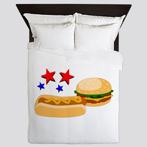 American Hot Dog And Burger Queen Duvet