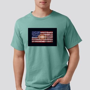 Football on american flag T-Shirt