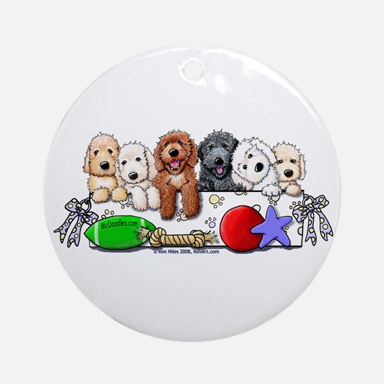 McDoodles Nursery Ornament (Round)