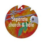 Separate Church and Hate Keepsake (Round)
