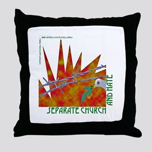 Separate Church and Hate Throw Pillow