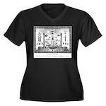 Scottish Freemasonry Women's Plus Size V-Neck Dark