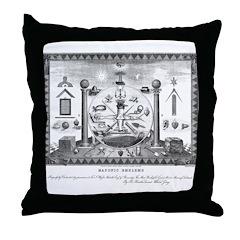 Scottish Freemasonry Throw Pillow