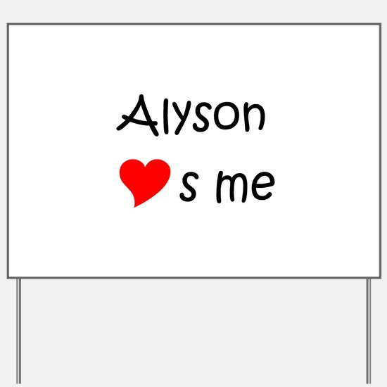 Unique Alyson Yard Sign