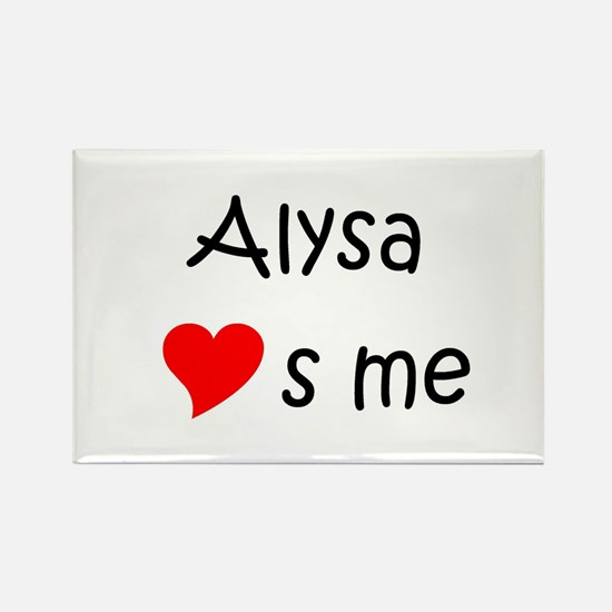 Funny Alysa Rectangle Magnet