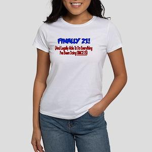 Finally 21 (BLUE) Women's T-Shirt