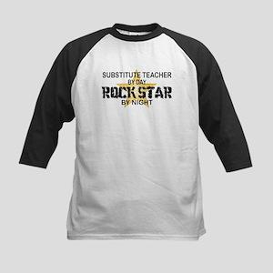 Substitute Teacher Rock Star by Night Kids Basebal