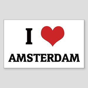 I Love Amsterdam Rectangle Sticker
