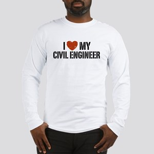 I Love My Civil Engineer Long Sleeve T-Shirt