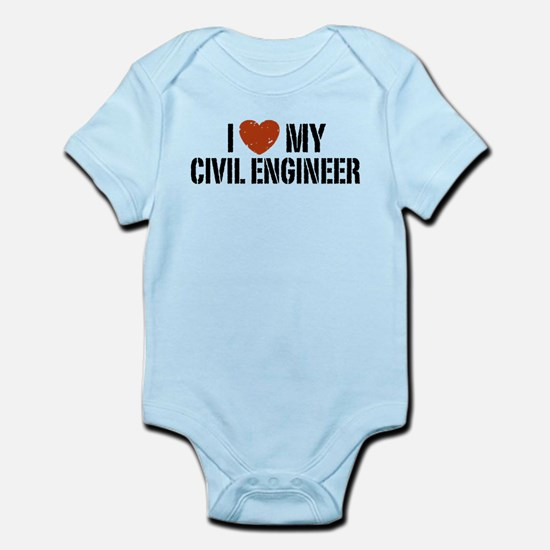 I Love My Civil Engineer Infant Bodysuit