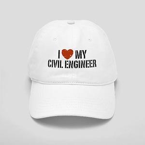I Love My Civil Engineer Cap