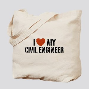 I Love My Civil Engineer Tote Bag