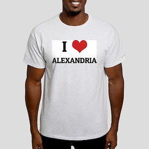 I Love Alexandria Ash Grey T-Shirt