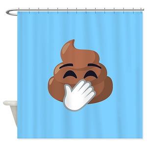 Emoji Poop Shower Curtains