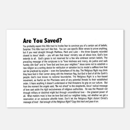 SALE! Fundamentalist (Not!) Postcard Tracts (8)
