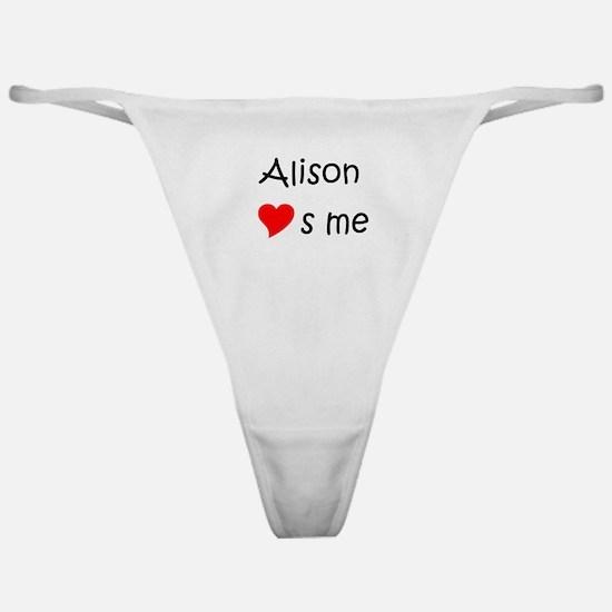 Unique Alison Classic Thong