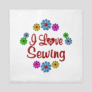I Love Sewing Queen Duvet