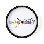 Got ASL? Pastel Wall Clock