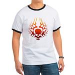 Flaming Skull Tattoo Ringer T