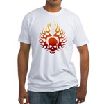Flaming Skull Tattoo Fitted T-Shirt