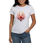 Flaming Skull Tattoo Women's T-Shirt