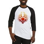 Flaming Skull Tattoo Baseball Jersey