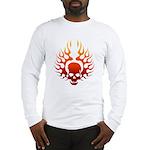 Flaming Skull Tattoo Long Sleeve T-Shirt