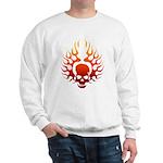 Flaming Skull Tattoo Sweatshirt