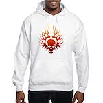 Flaming Skull Tattoo Hooded Sweatshirt