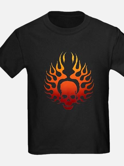 Flaming Skull Tattoo T