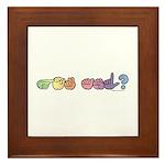 Got ASL? Pastel Framed Tile