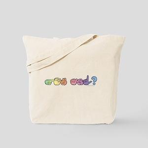 Got ASL? Pastel Tote Bag