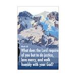 Micah 6:8 Mini Poster Print