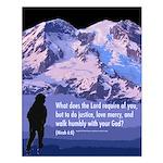 Micah 6:8 Small Poster