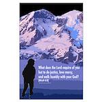 Micah 6:8 Large Poster