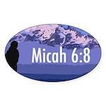 Micah 6:8 Oval Sticker