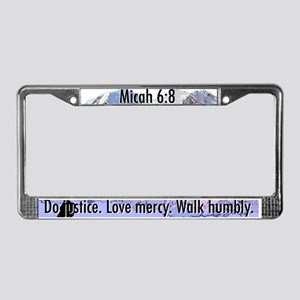 Micah 6:8 License Plate Frame