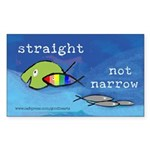 Straight But Not Narrow Rectangle Sticker