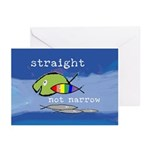 Straight But Not Narrow Greeting Cards (Pk of 10)
