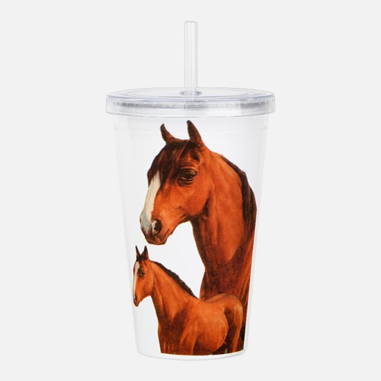 Two horses Acrylic Double-wall Tumbler