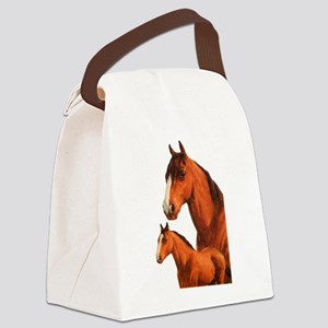 Two horses Canvas Lunch Bag
