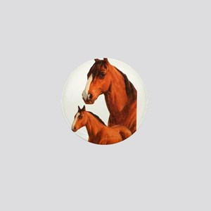 Two horses Mini Button