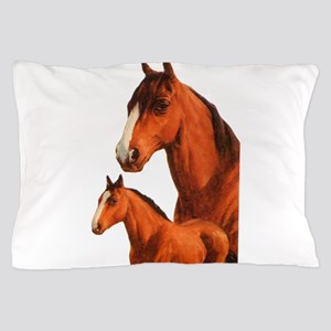 Two horses Pillow Case