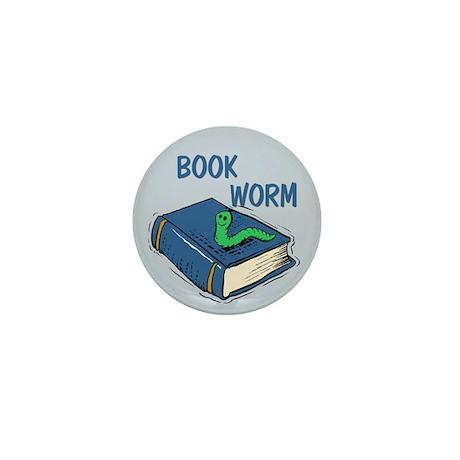 Book Worm Mini Button