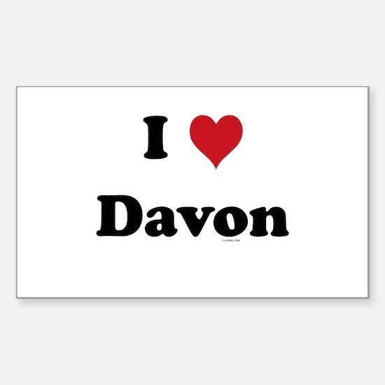 I love Davon Rectangle Decal