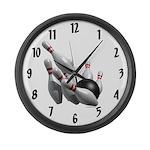 Bowling Strike Large Wall Clock