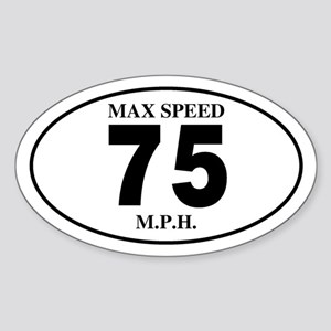 75 Oval Sticker