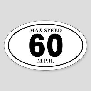 60 Oval Sticker