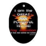 TSG Gear Wizard of Tech Oval Ornament