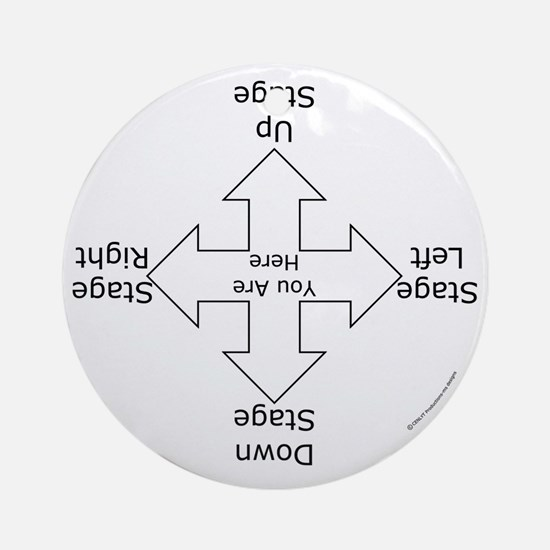 Stage Directions Ornament (Round)